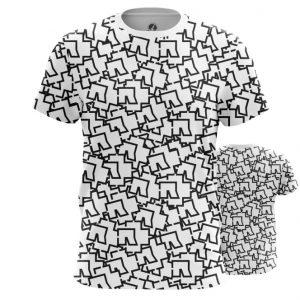 Merch T-Shirt Rammstein Logos Pattern Print