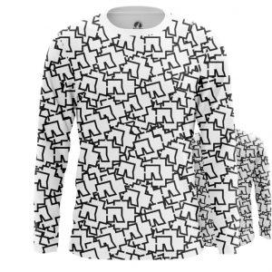 Merch Long Sleeve Rammstein Logos Pattern Print