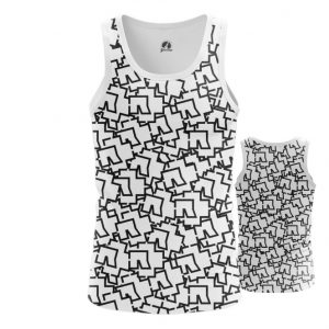 Merch Tank Rammstein Logos Pattern Print Singlet Vest
