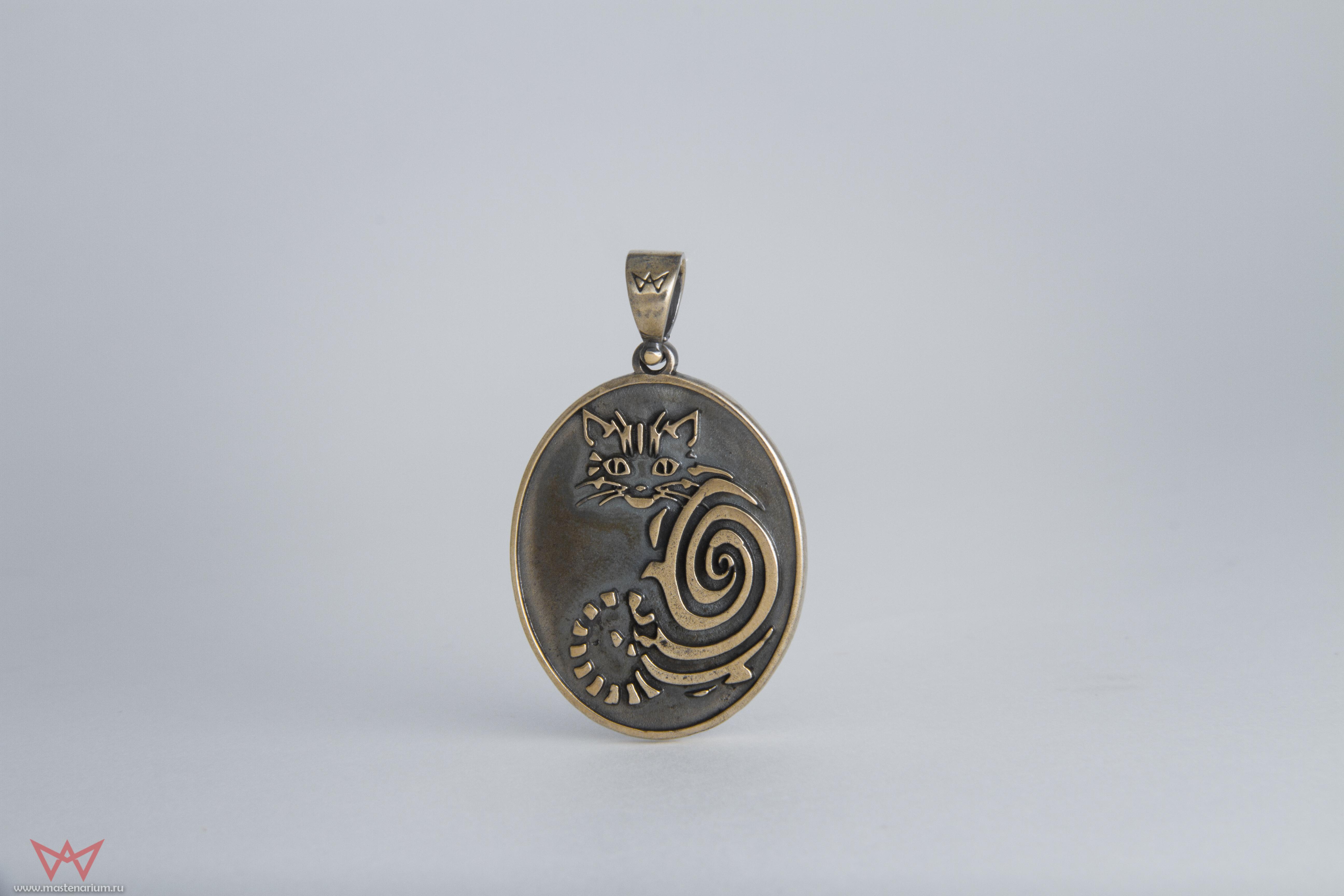 Merchandise Cheshire Cat Pendant Alice In Wonderland Brass