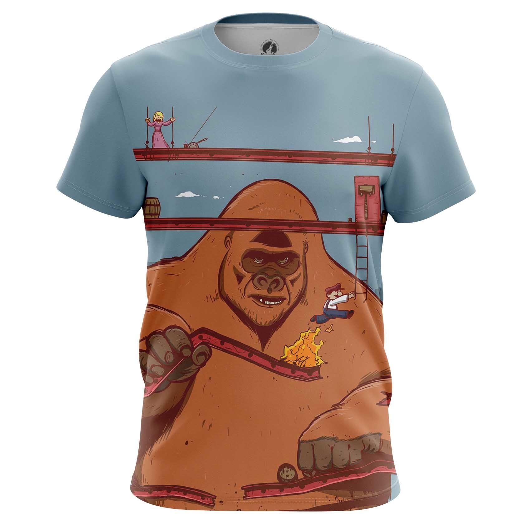 Merchandise Men'S Long Sleeve Donkey Kong Mario Nintendo Illustration