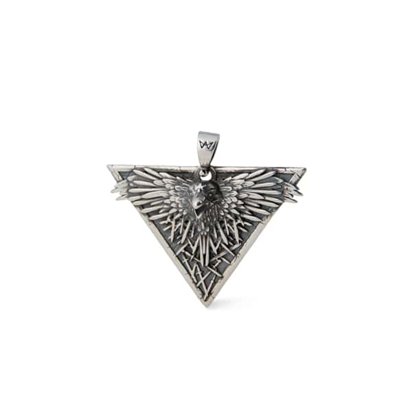 Merch Third Eye Raven Silver Necklace Game Of Thrones