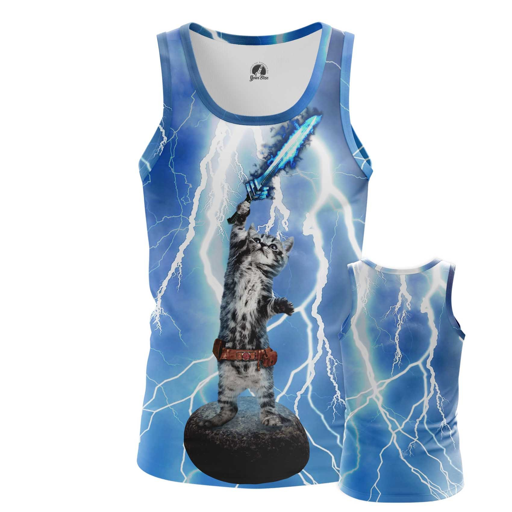 Collectibles Men'S T-Shirt Cat God Internet Cats Thunder Fun