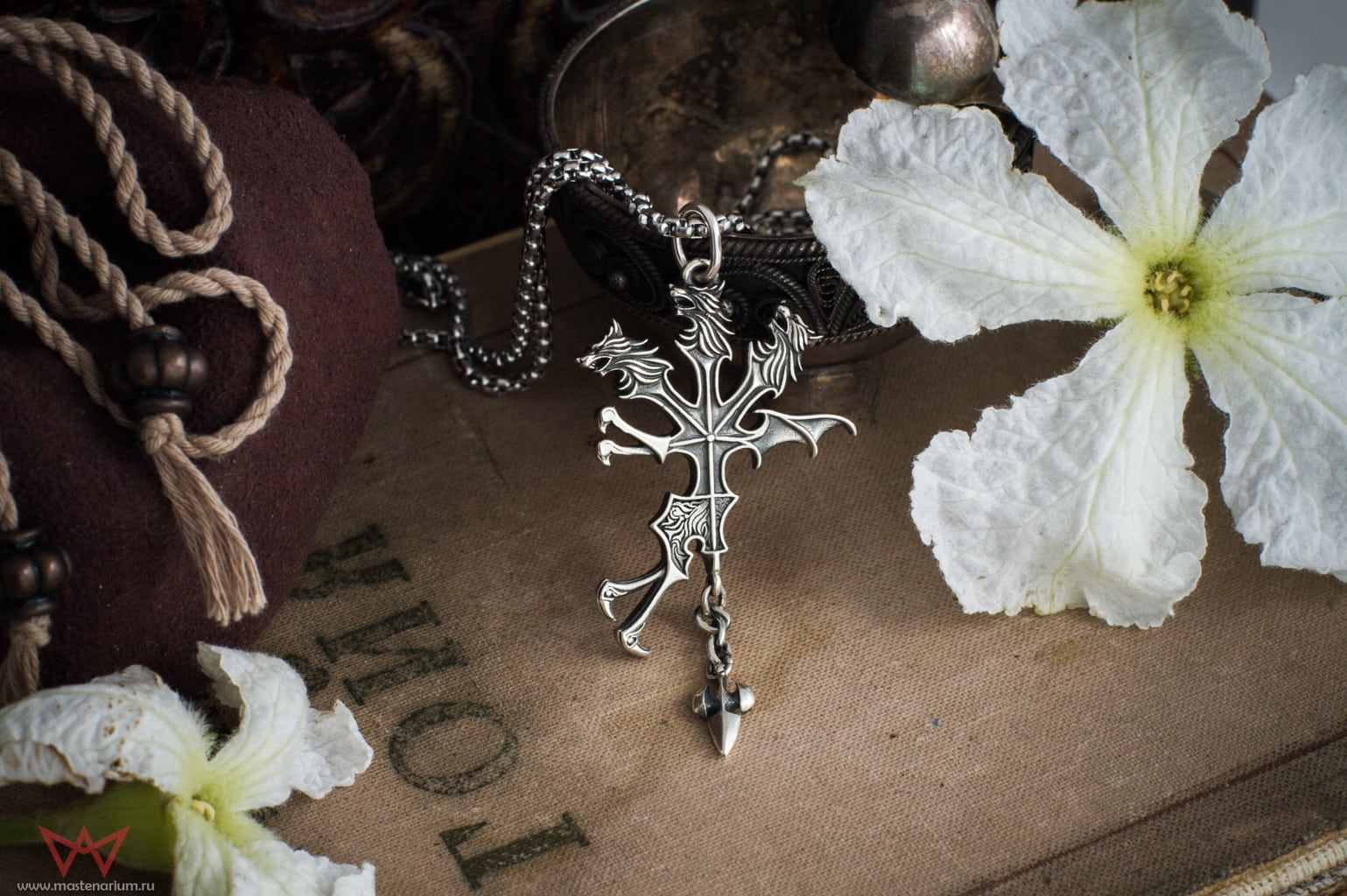 Merch Silver Cerberus Necklace Final Fantasy