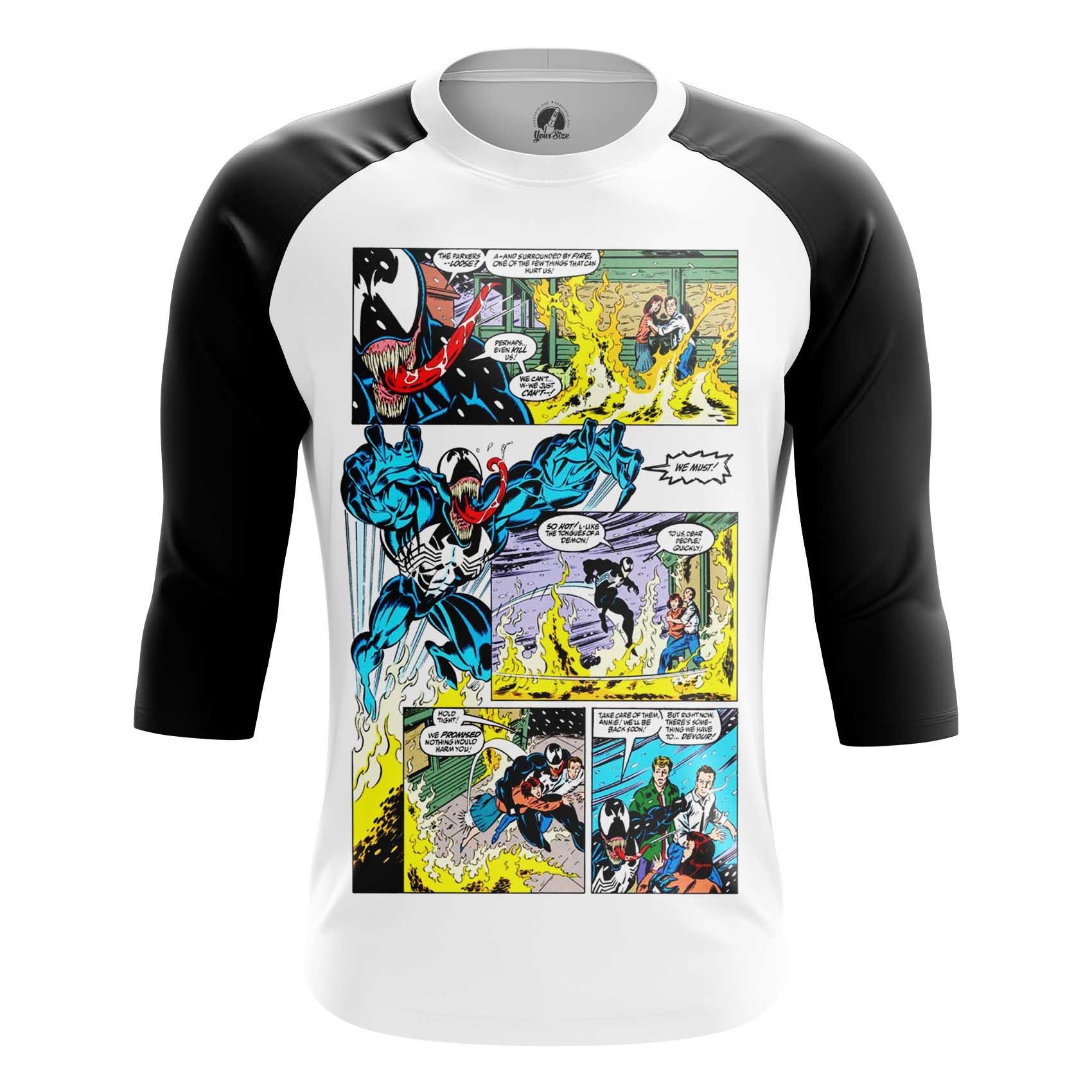Merchandise Men'S Long Sleeve Venom Symbiote Comic Arts Old School Retro