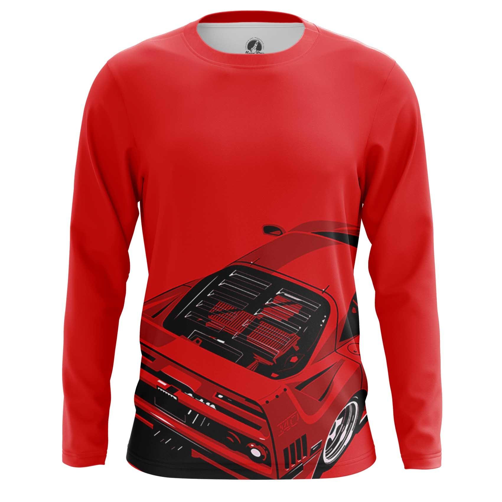 Merch Men'S T-Shirt Ferrari Car Logo Emblem Red