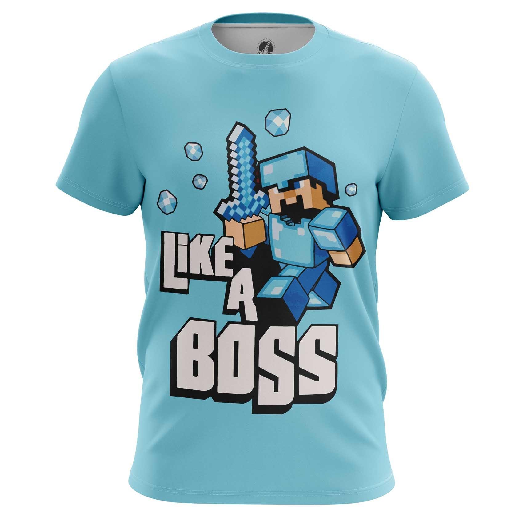 4113e5709 Raglan t-shirt mens t-shirt Minecraft Pattern Fan art Boss - IdolStore