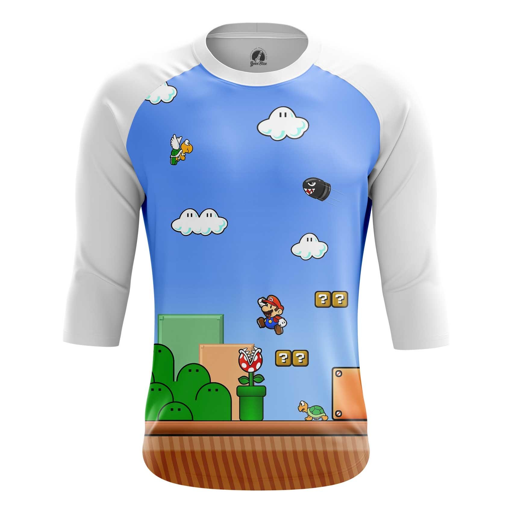 Collectibles Men'S Long Sleeve Mario Game Level Coins Illustration