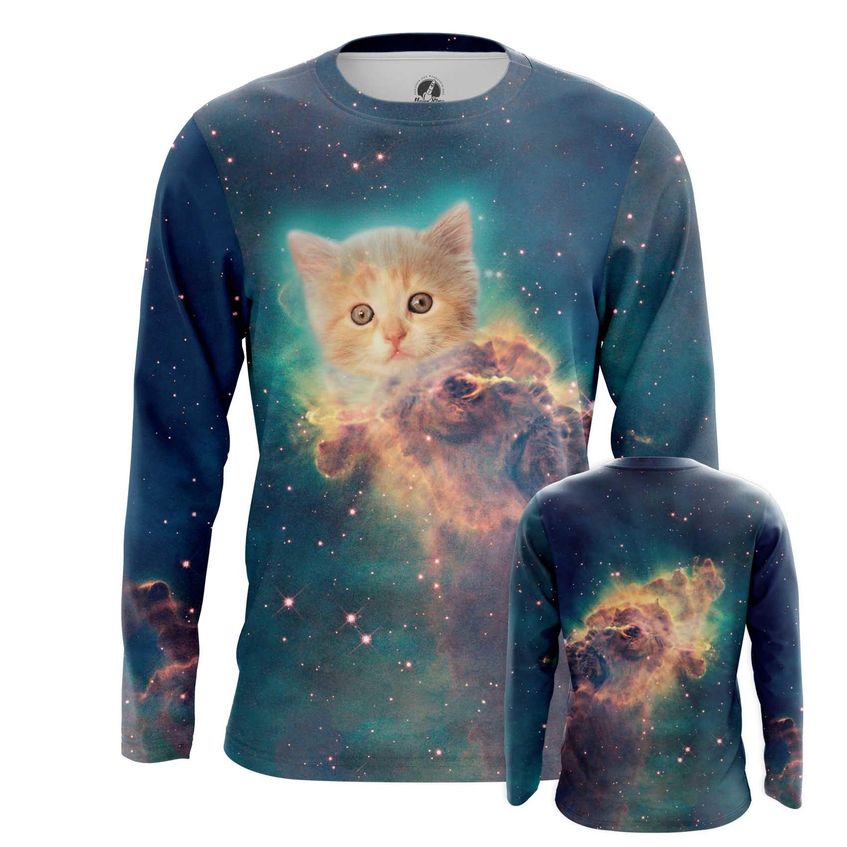 Merch Men'S Tank Space Kitten Universe Cat Vest
