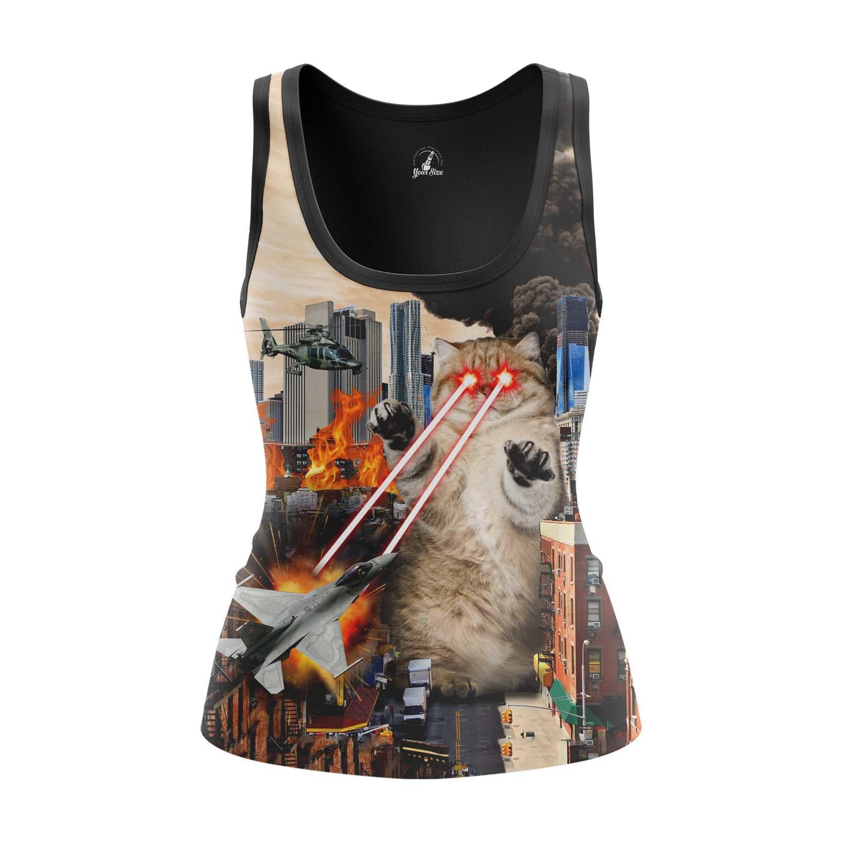 Merch - Women'S Tank Catastrophe Cat Crash Fun Vest