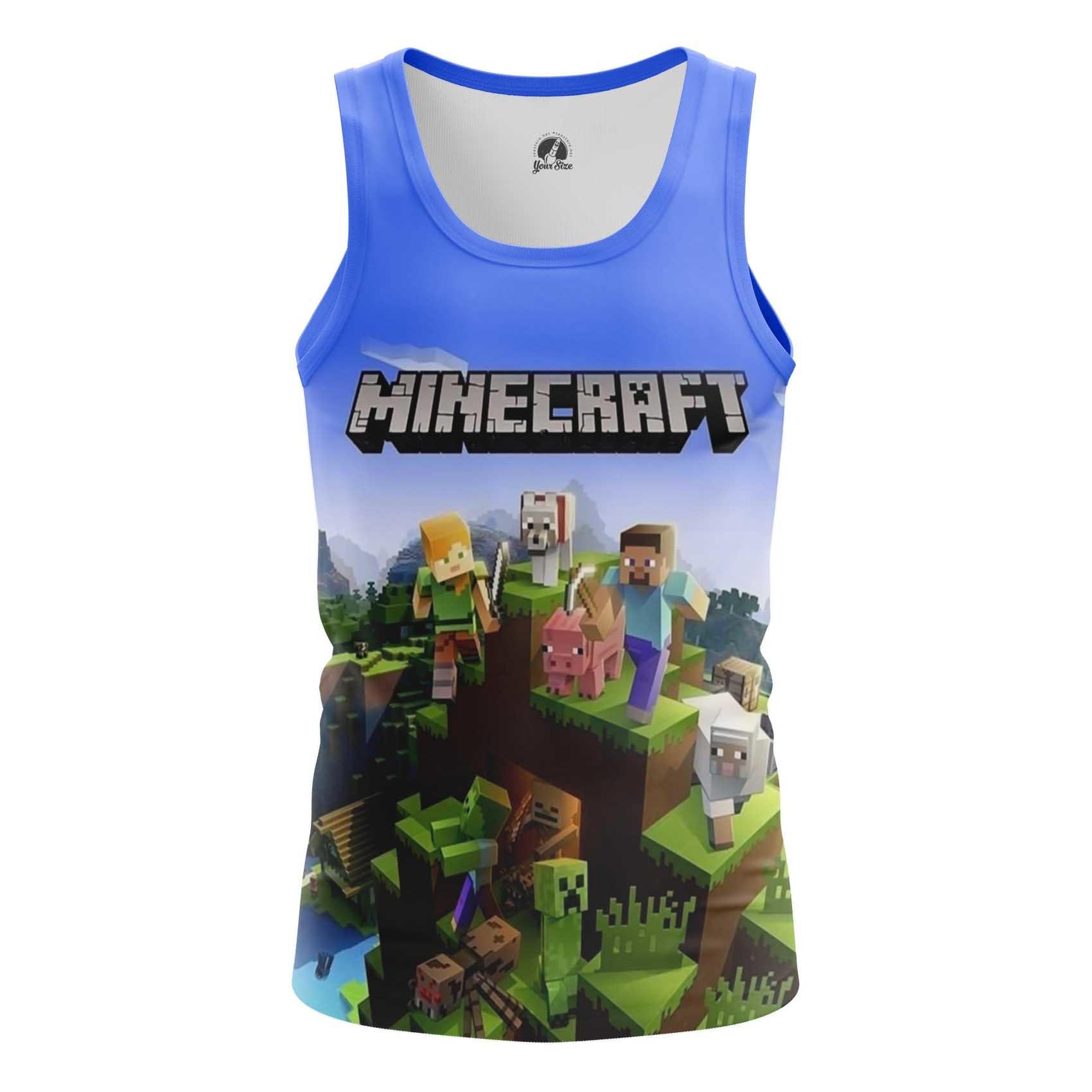 Merch Men'S T-Shirt Minecraft Pattern Fan Art Kids