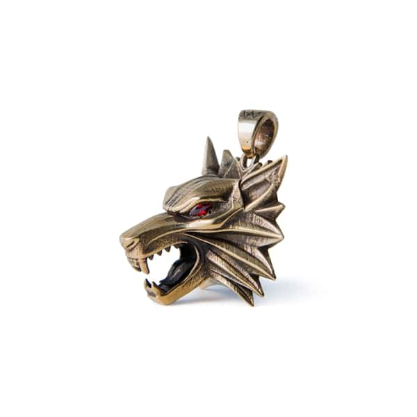 Merch Wolf Necklace W/ Fianits The Witcher