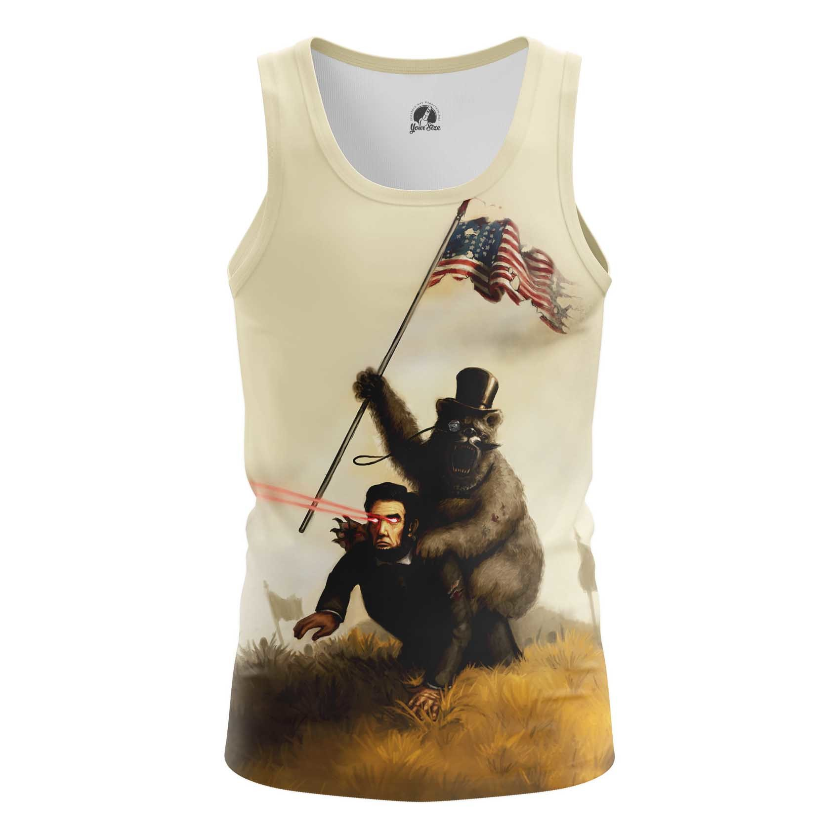 Collectibles Long Sleeve Grizzly Bear Abraham Lincoln