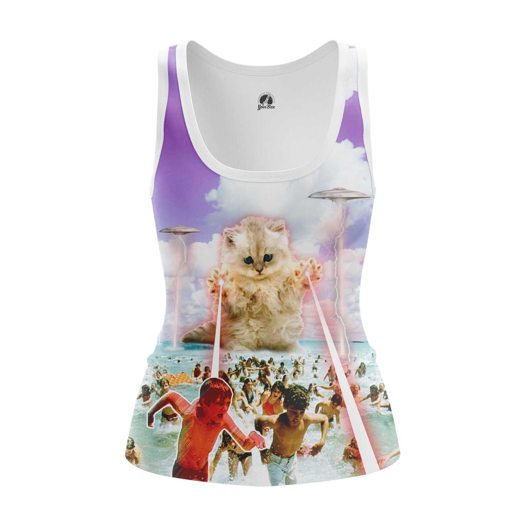 Collectibles - Women'S Tank Beach Party Cats Funny Shirt Vest