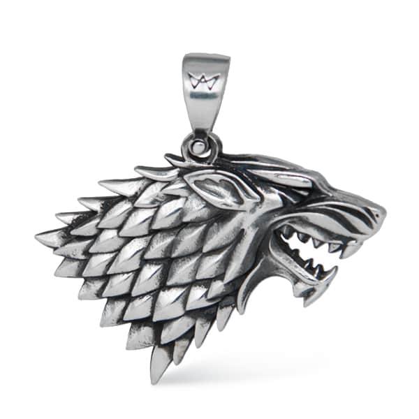 Merch Direwolf Necklace Game Of Thrones Silver