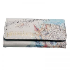 HARRY POTTER HOGWARTS WATERCOLOR WALLET WOMEN PURSE DFT-6028 1
