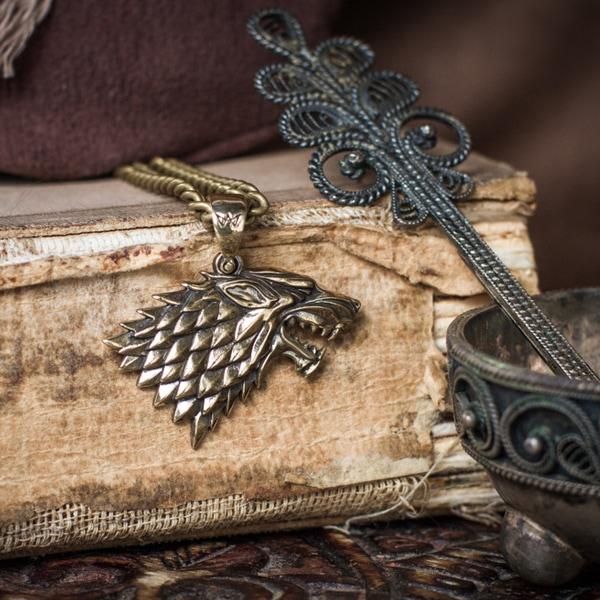 Merch Direwolf Amulet Got Stark House