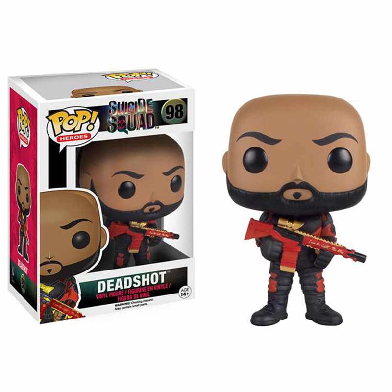 Merch Pop Movies Suicide Squad Deadshot Unmasked Collectibles Figurines