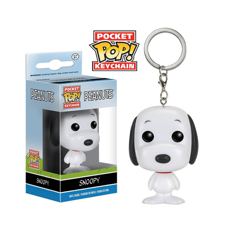 Merchandise Pop Keychain Peanuts Snoopy Collectibles Figurines