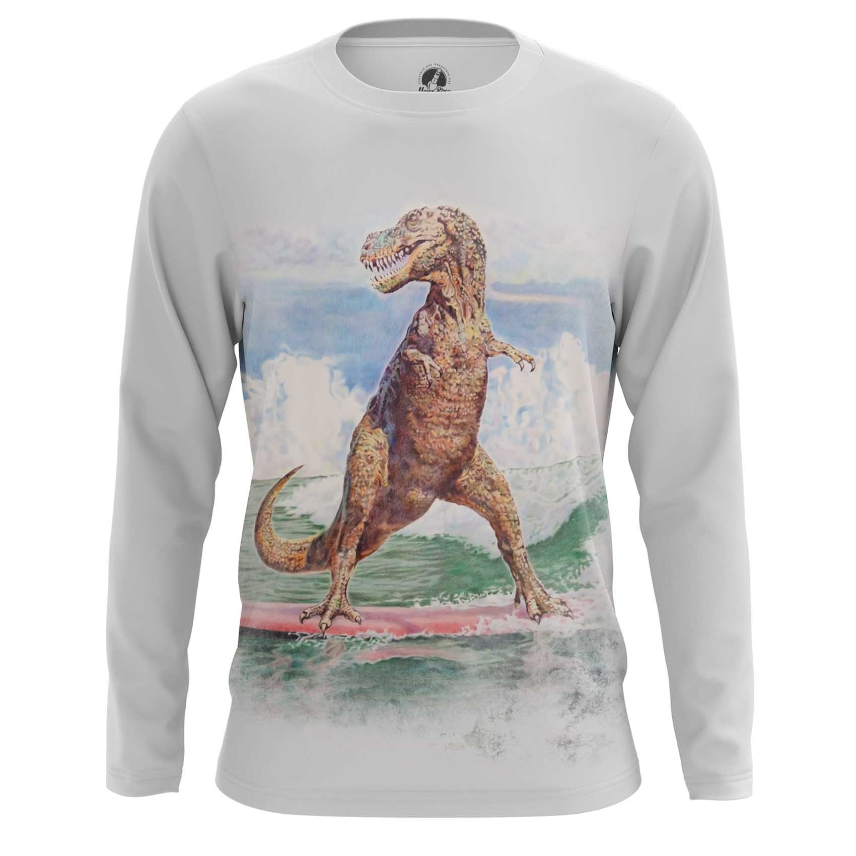 Collectibles T-Shirt Surf T-Rex Dinosaur Surfing Inspired Art