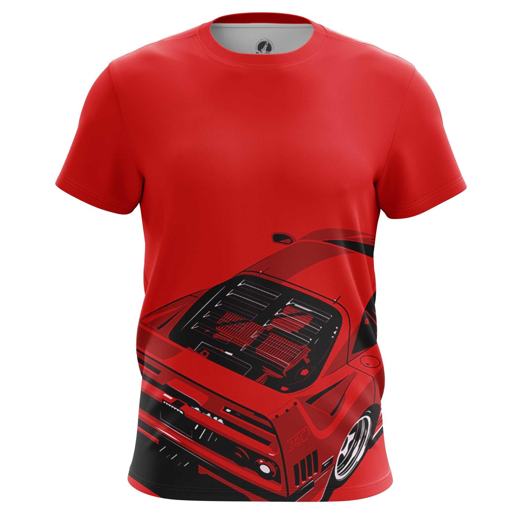 Merch Long Sleeve Ferrari Car Logo Emblem Red