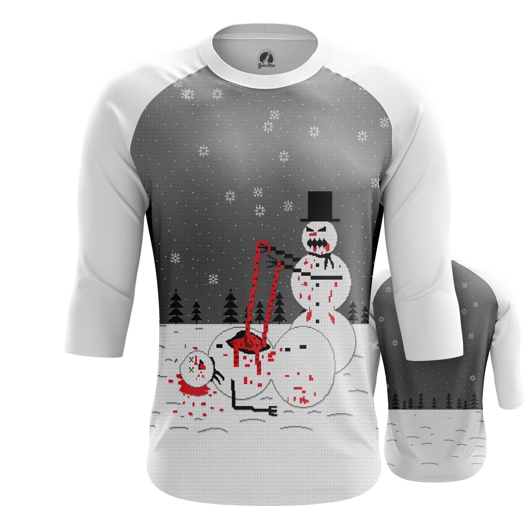 Merch Snowman T-Shirt Christmas Bloody Scene
