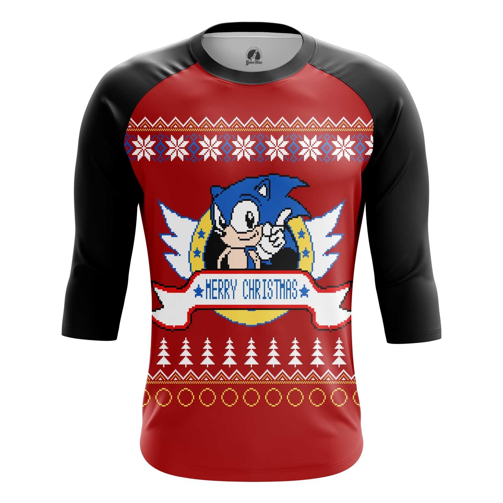 Merchandise Men'S T-Shirt Sonic Sonic Hedgehog X-Mas Christmas Special