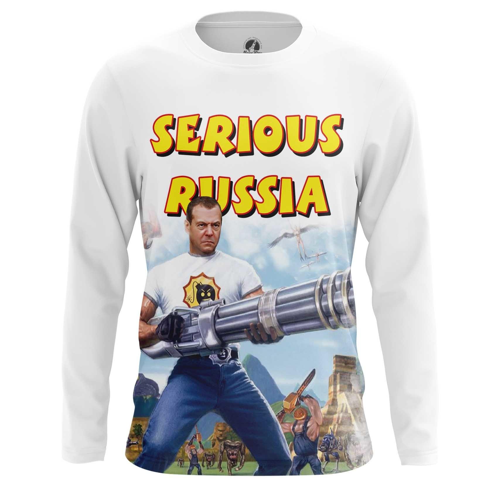 Merchandise Long Sleeve Serious Russia Sam Game Politics