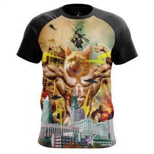 Merchandise Men'S T-Shirt Catzilla Japanese Godzilla Fun