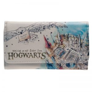 Harry Potter Hogwarts Watercolor Wallet Women Purse Dft-6028