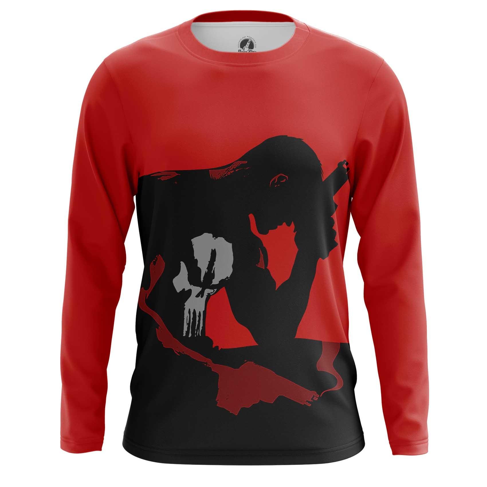 Merchandise Long Sleeve Punisher Black Red Art Inspired