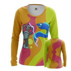 Collectibles Women'S Long Sleeve Party Time Futurama Bender Dancing