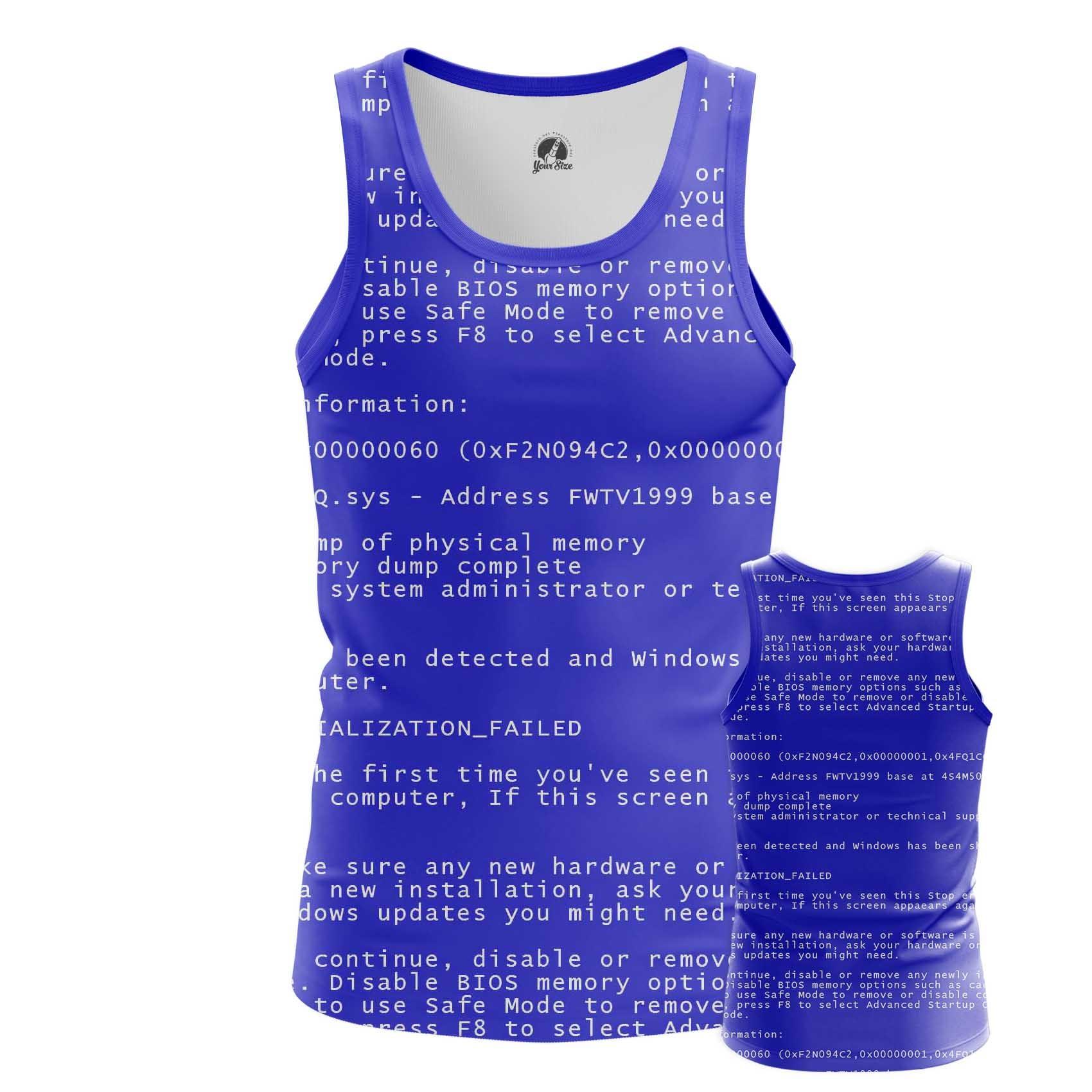 Merchandise Men'S T-Shirt Blue Screen Of Death Web Fun Art