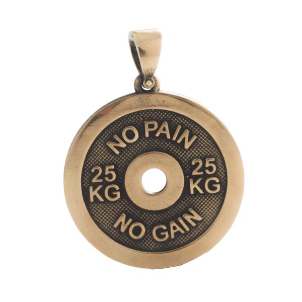 Merch No Pain No Gain Necklace Quote Workout
