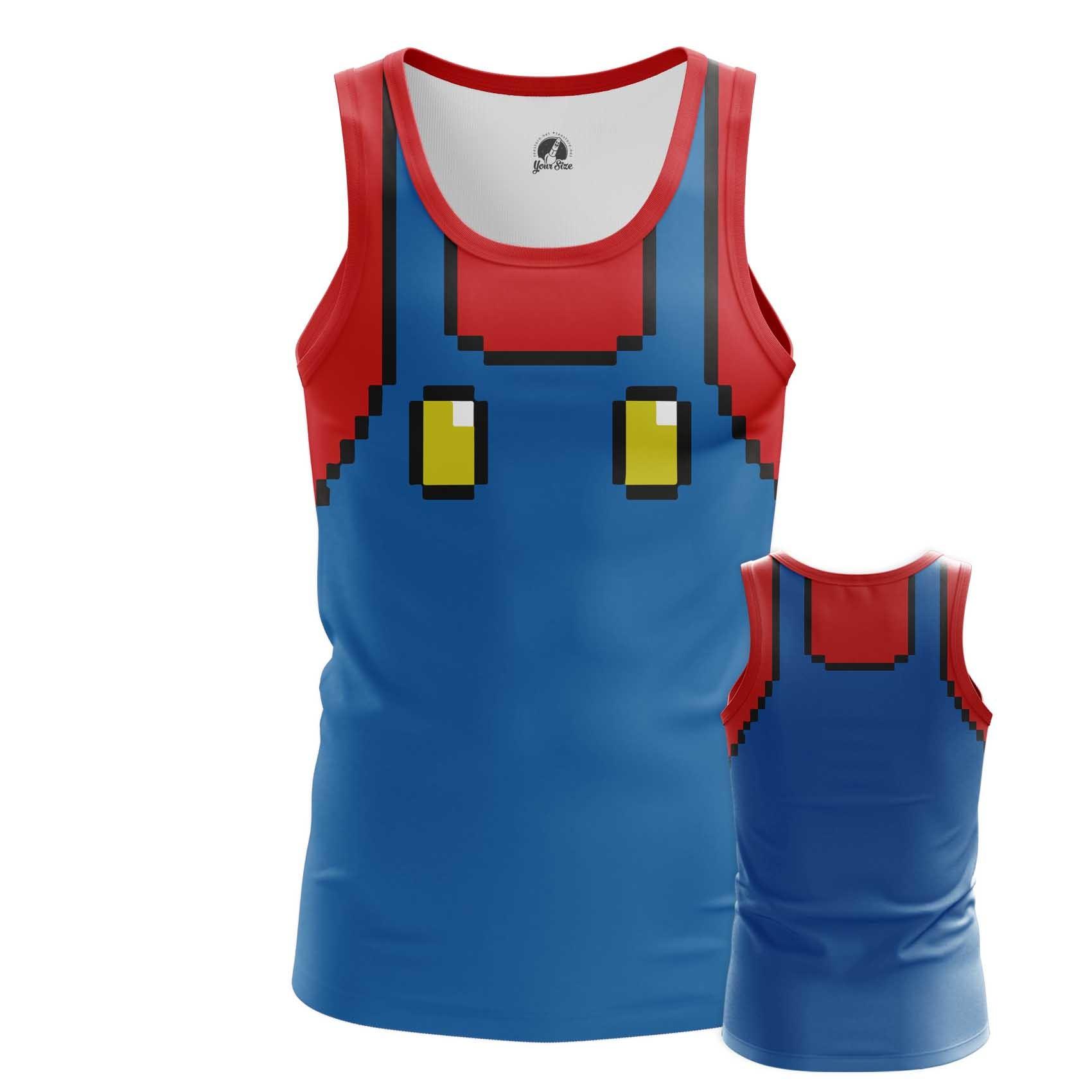 Collectibles Men'S T-Shirt Mario Costume Suit Nintendo Art