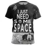 Merch Men'S T-Shirt Need Space Moon Universe