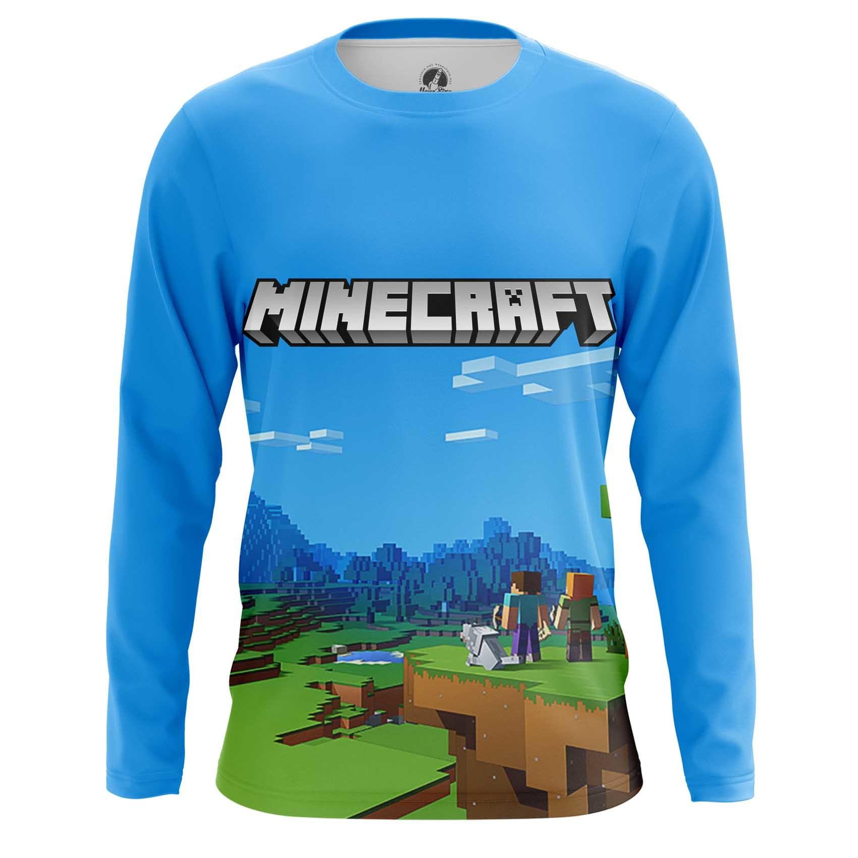 Merch Long Sleeve Minecraft Pattern Fan Art