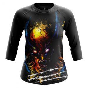 Merchandise Women'S Raglan Splash Wolverine Xmen Logan