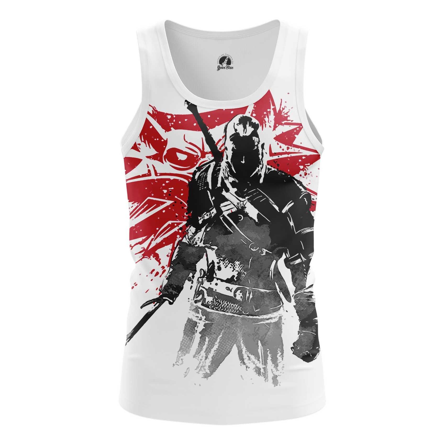 Merchandise Men'S Tank Witcher 3 Wolf Sign 3 Vest