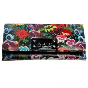 - Alice Wallet Female Pu Leather Wallet Leisure Purse Colorful Style 3Fold Flowers Printing Women Wallets Long 12