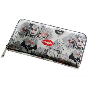 - Arkham Knight Harley Quinn Zip Up Wallet Women Purse Dft 1943