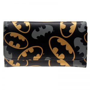 - Batman Printed Fashion Women Black Wallets Women S Long Design Purse Two Fold More Color Clutch