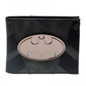 - Batman Wallet Metal Badge Black Bi Fold Men Wallet Women Purse Dft 3090