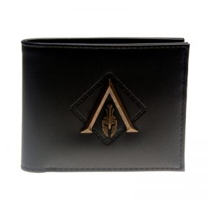 - Black Metal Badge Men Bifold Wallet Women Pusre Dft 3143