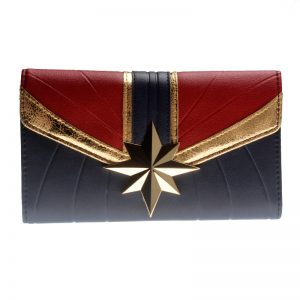 - Captain Marvel Tri Fold Wallet Women Purse Wonder Woman Dft 6037