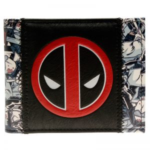 Merch Wallet Deadpool Mask Logo Black And White Pattern