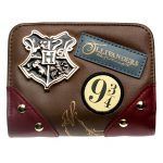 - Diagon Alley Wallet Metal Badge Brown Date Red Patch Printed Embroidered Wallet Gift For Girls Wallet