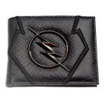 Flash-Wallet-Black-Embroidery-Metal-Badge-Wallet-Heroes-Vs-Villains-Bi-Fold-Men-Wallet-Women-Purse