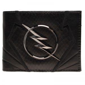 - Flash Wallet Black Embroidery Metal Badge Wallet Heroes Vs Villains Bi Fold Men Wallet Women Purse