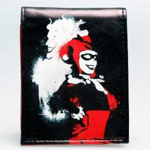 Merch Wallet Harley Quinn Comic Book Emblem